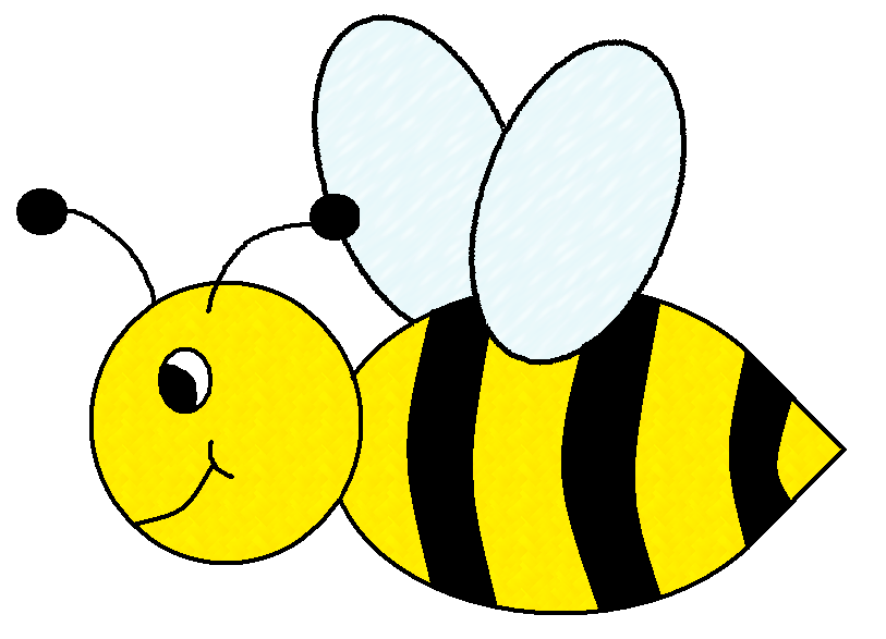 Buzzing clipart panda free. Bee clip art insect image black and white