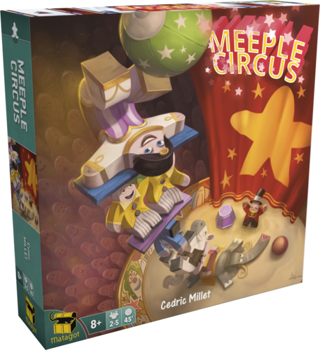 Buzz transparent game. Meeple circus boards and