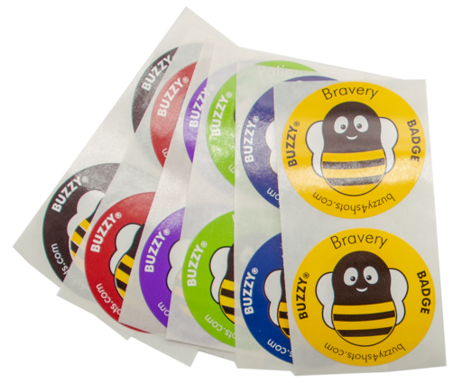 Buzz transparent glider pack. Products buzzy bravery badges
