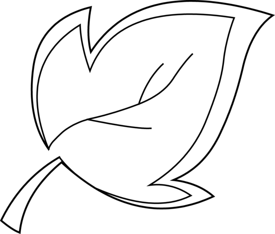Heartbeat line clipart black and white png. Leaf clip art