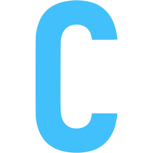 C letter png. Image with transparent background