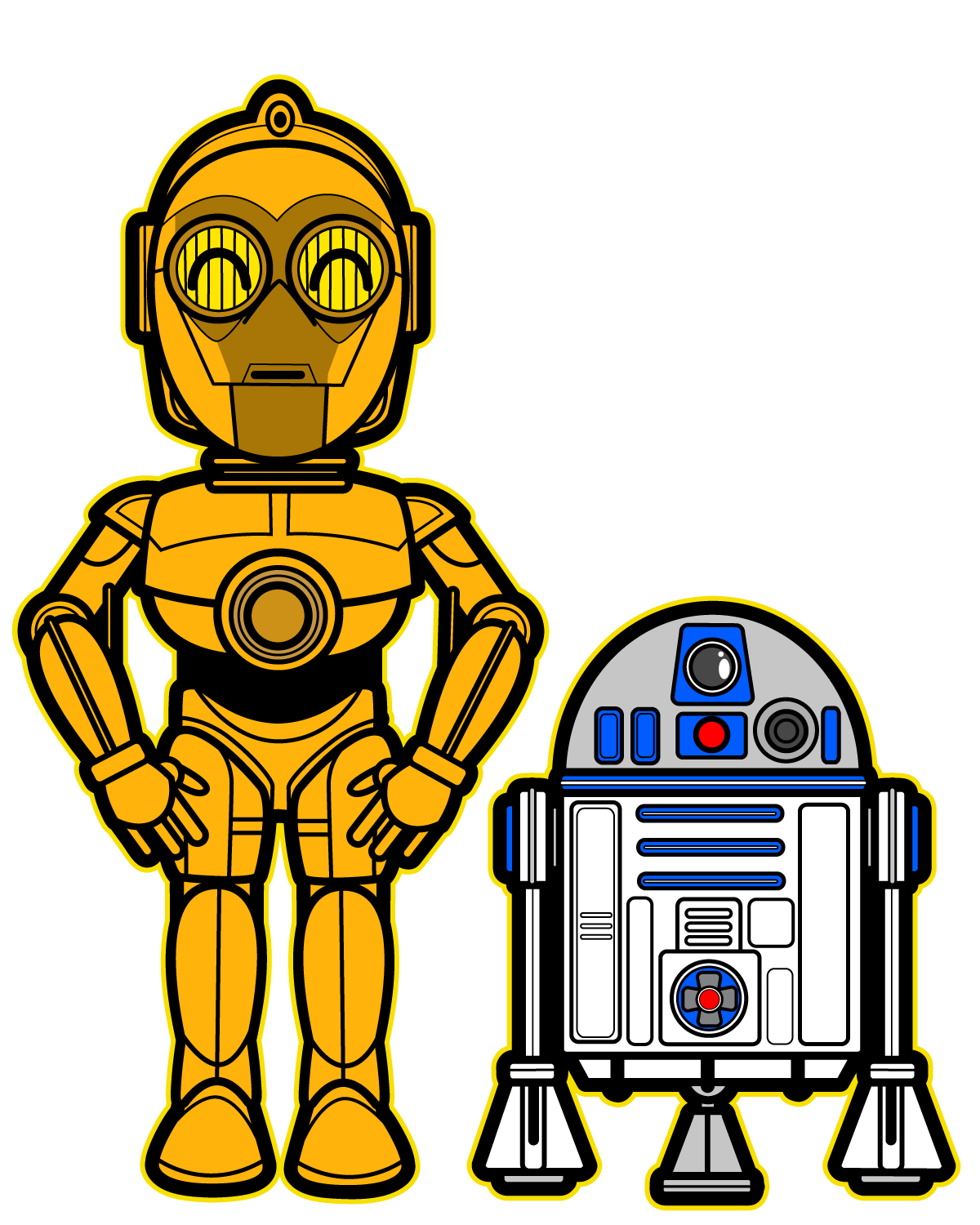 C3po vector cp30. R d and c