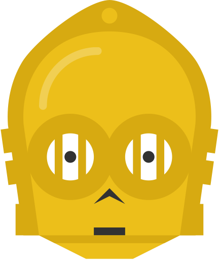 C3po vector face. Starwars picture freeuse