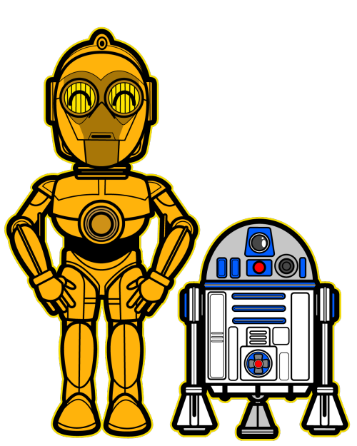 Star wars faces banner. R2d2 clipart valentines graphic library library