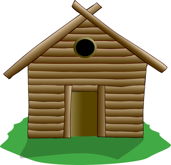 Shack drawing hillbilly. Building a cabin clipart