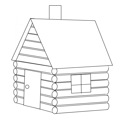 Cabin clipart easy draw. Clip art black and