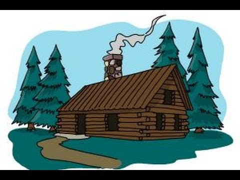 Cottage clipart rustic cabin. Simple log drawing at