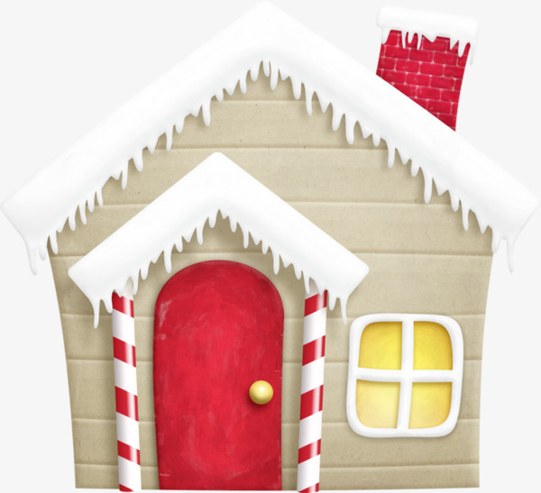 Cartoon wooden hand painted. Cabin clipart snow roof clip freeuse