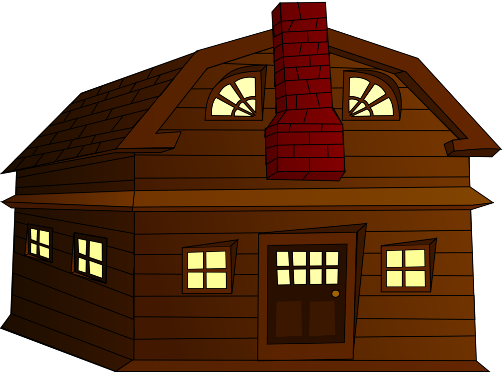Vector buildings colonial building. House american log cabin