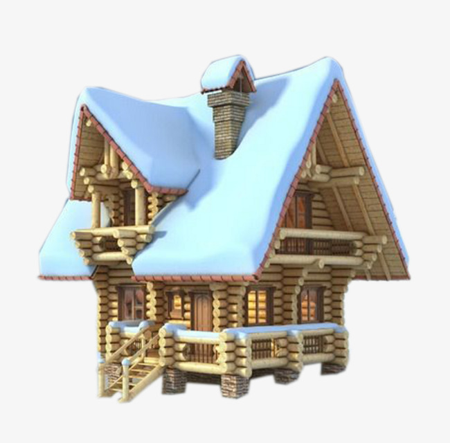 Covered house snowy roofs. Cabin clipart snow roof royalty free library