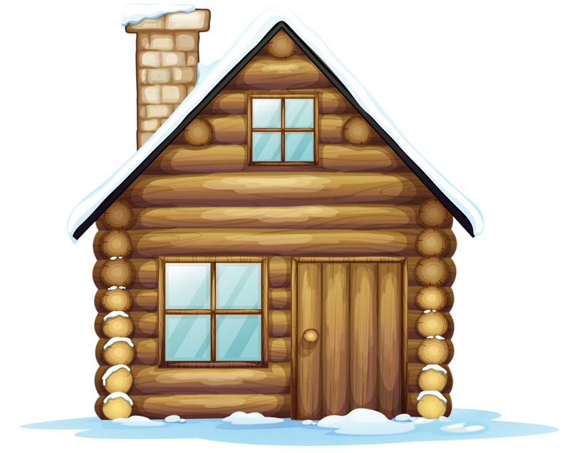 Cottage vector log house. Png clip art