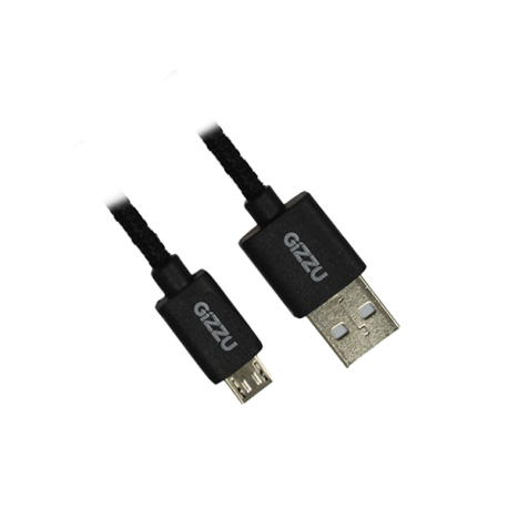 Cable transparent braided. Gizzu micro m usb