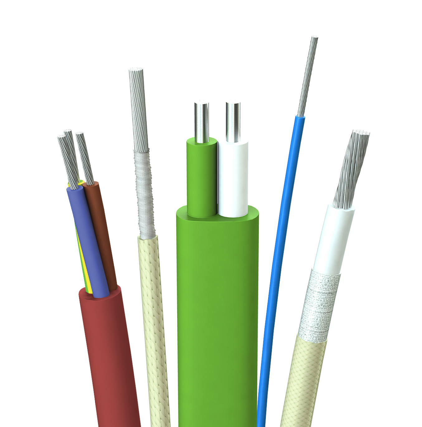 cable transparent core silicone