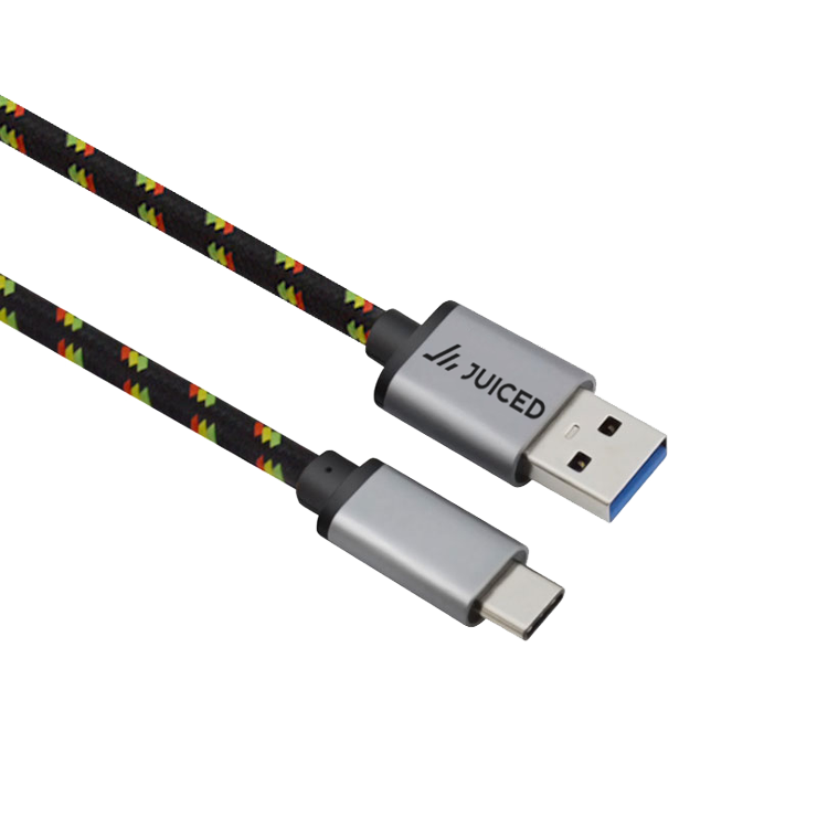 Cable transparent data. Usb c to braided