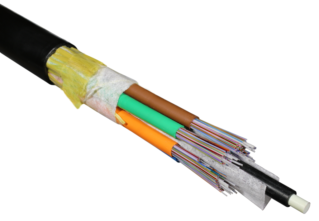 Cable transparent fiber. Double the density by