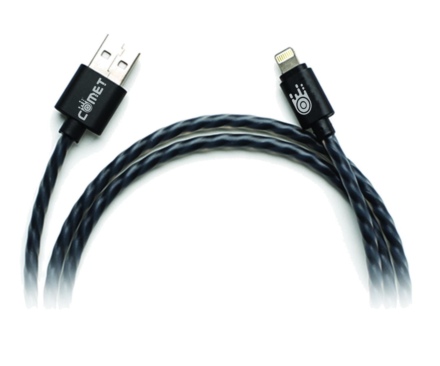 Cable transparent lighting. Jelly mfi usb data