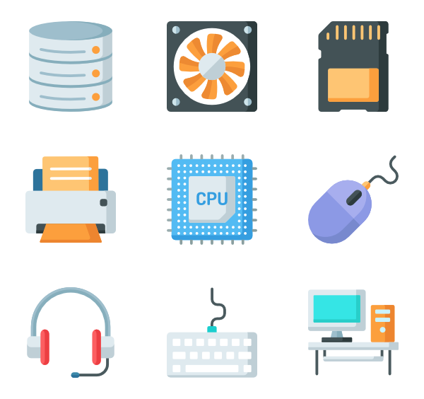 Icons free computer components. Cable vector jpg