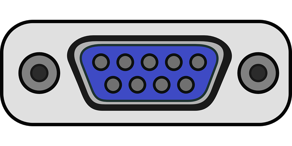 Cable vector computer port. Free serial icon download
