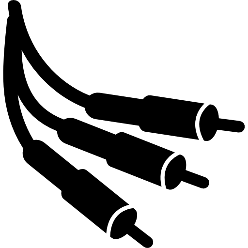 Connector jacks with cords. Cable vector music svg royalty free library