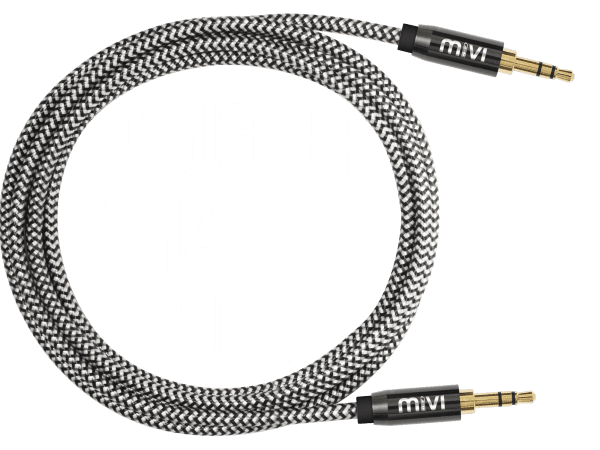 Cable vector tangled wire. Tough audio with gold