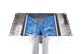 Cables on floor png. Consolidation point cable manager