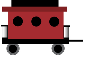 Caboose clipart. Red