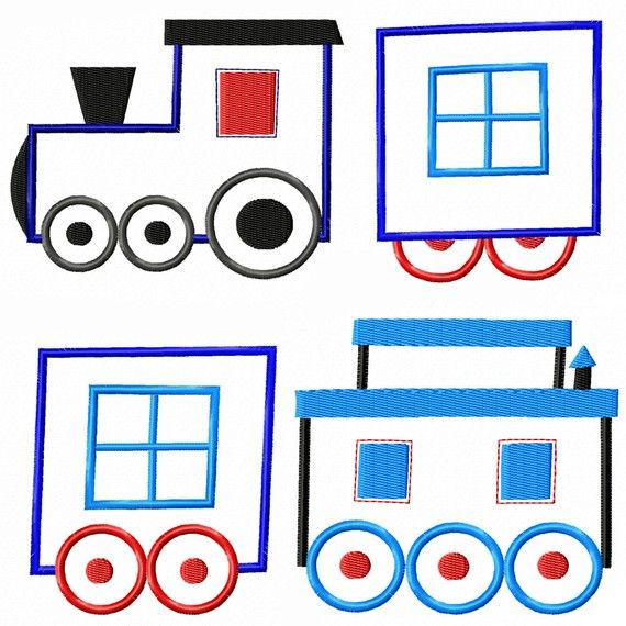 Caboose clipart train engine. Cars and machine embroidery