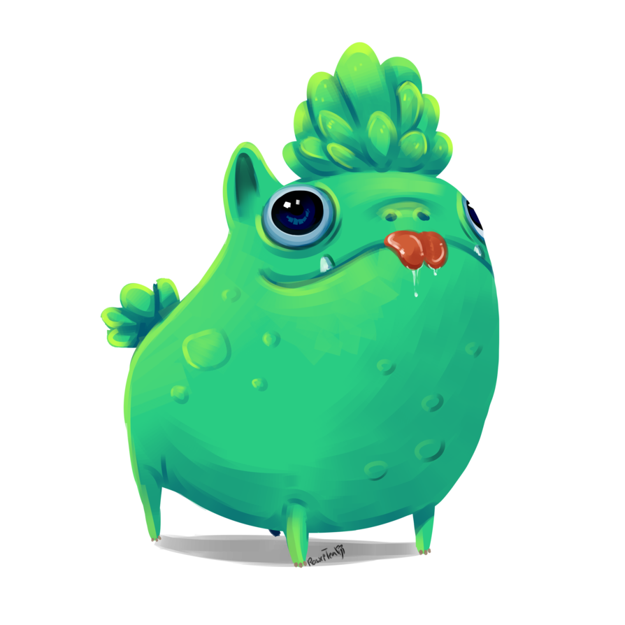 Cactus cartoon png. Creature by rawri tea