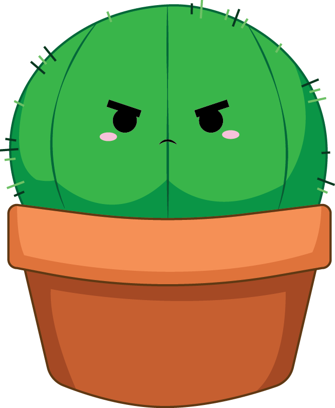 Cactus clipart kawaii. Angry by z ap