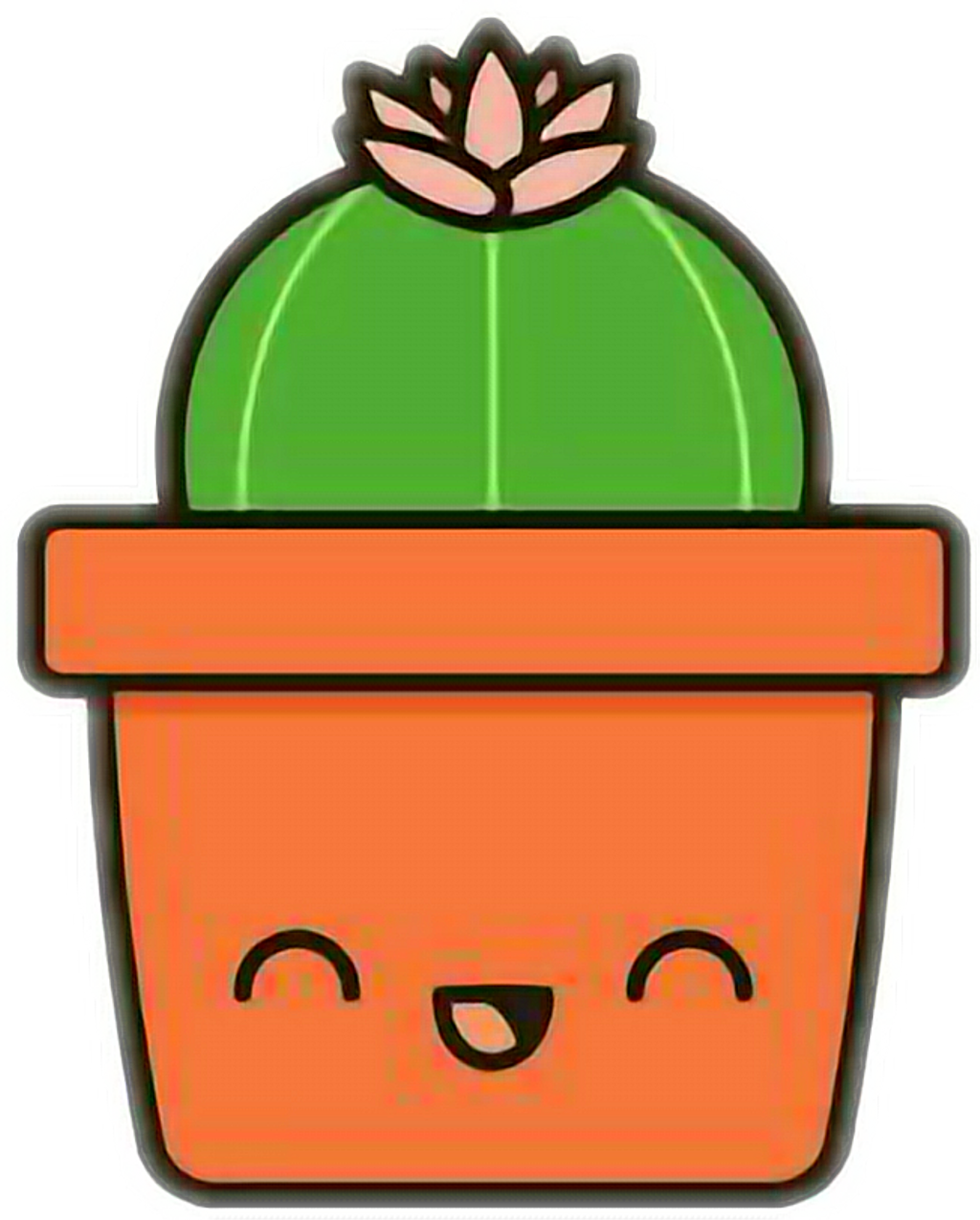 Cactus clipart kawaii. Sticker by infinite space