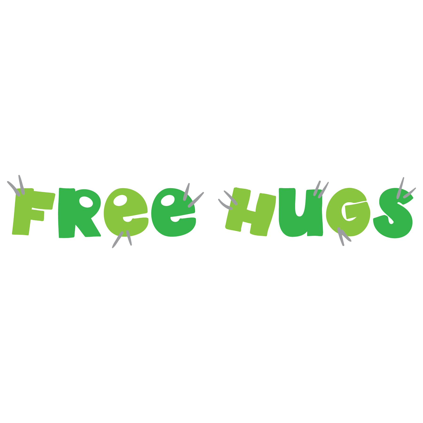 Cactus free hugs clipart. Humor text