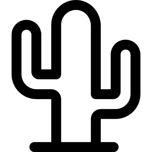 Cactus silhouette png. Mexico plants icons plant