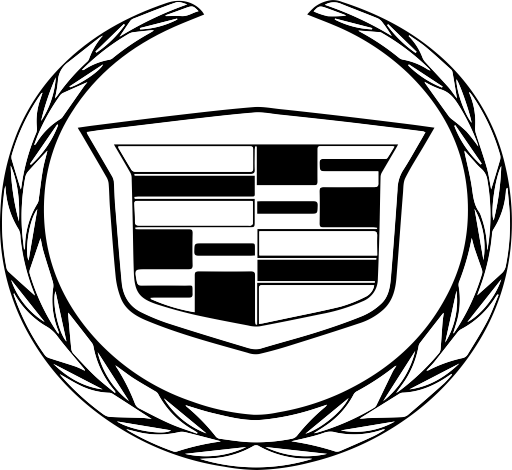 Cadillac vector line drawing. Car mafia icon with