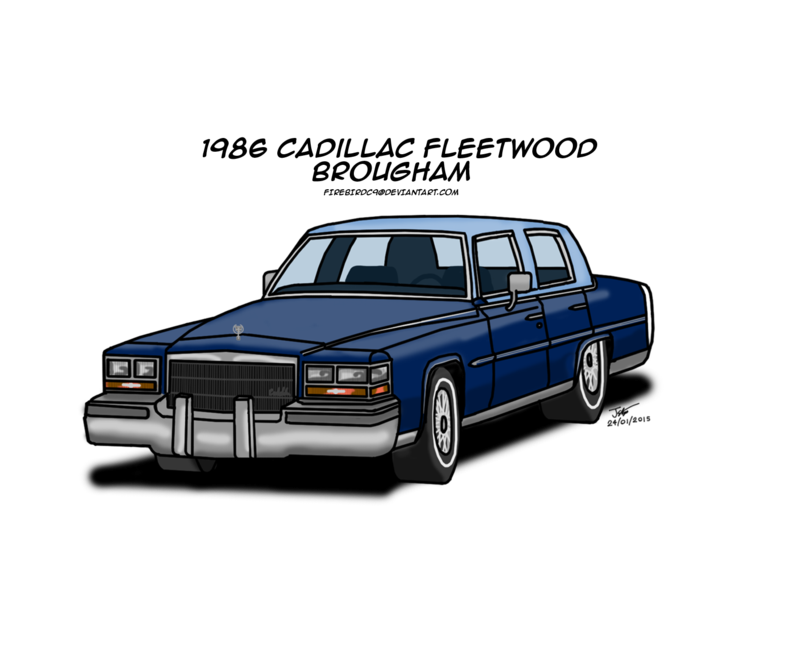 Cadillac drawing. Fleetwood brougham by