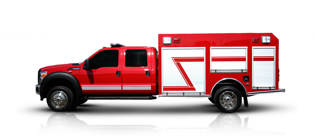 Cadillac drawing fire engine. Truck eskay