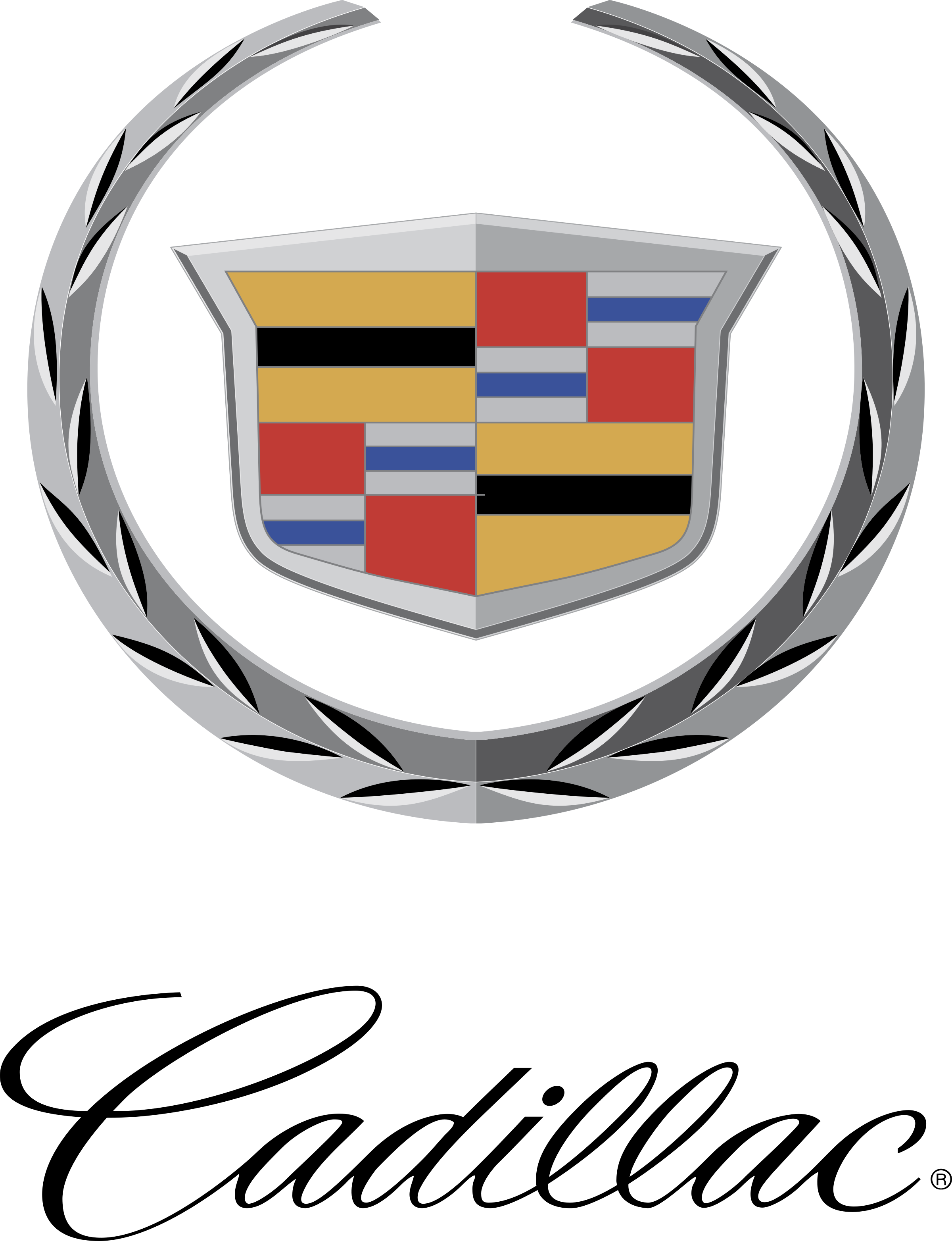 Cadillac vector silhouette. Logo png transparent svg