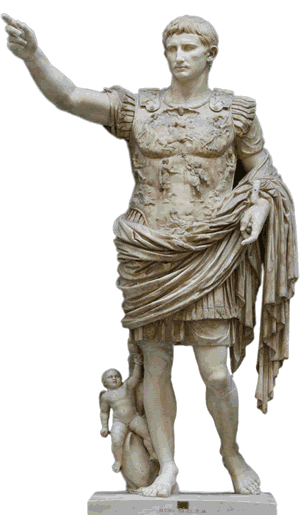 Caesar statue png. Augustus history for kids
