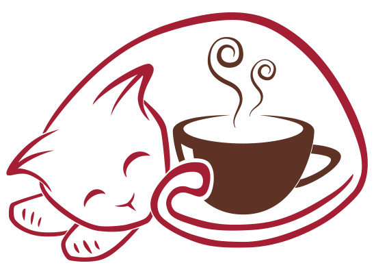 Coffe drawing idea. Red cat coffee art