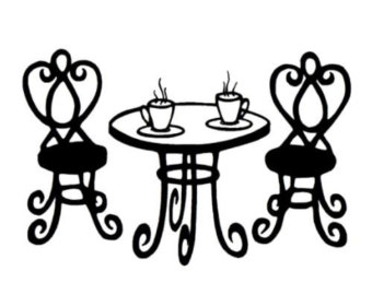 Cafe clipart drawing france. Paris