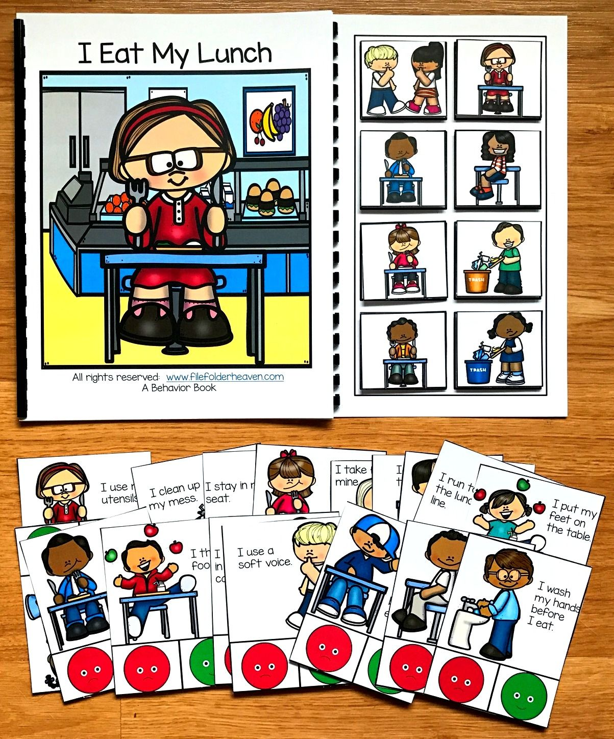 Cafeteria clipart clean. Behavior adapted book and