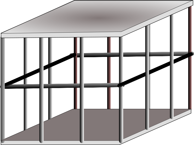 Cage clipart steel cage. Free structure cliparts download