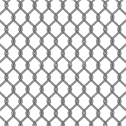 Transparent link chain. Metal fence png perfect