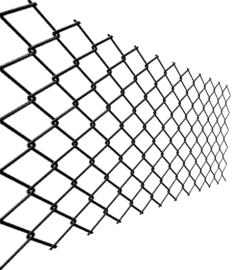 Transparent wires wire mesh. Fence chain link fencing