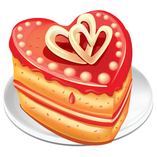 Cake clipart heart. Shaped icon free icons
