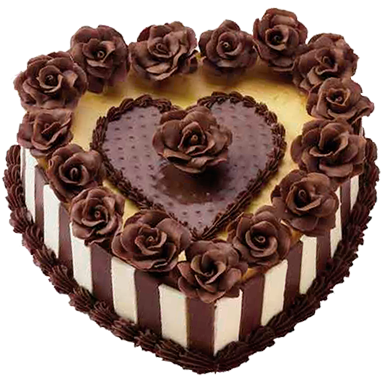 Chocolate with roses png. Cake clipart heart image royalty free stock
