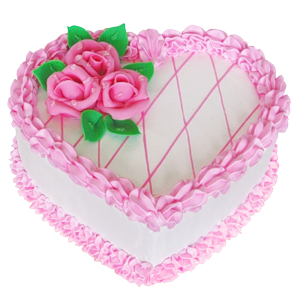 Pink and white png. Cake clipart heart png