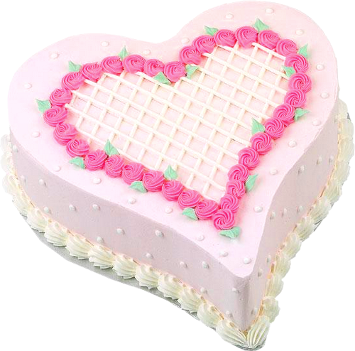 Pink png picture cakes. Cake clipart heart image transparent library