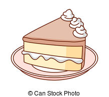 Cake clipart. Piece of illustrations and graphic stock