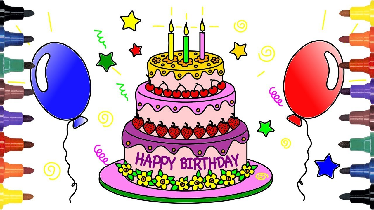 Terrific Cake Drawing Picture 2850846 Cake Drawing Funny Birthday Cards Online Hendilapandamsfinfo