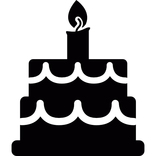 Cake silhouette png. Birthday free food icons